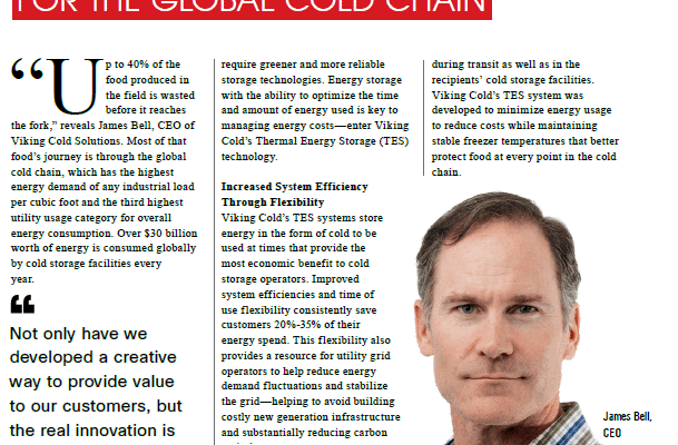 Energy CIO Insights Features Viking Cold's Thermal Energy Storage